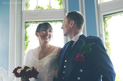 0018KandJ_004 (PauSmithPhotography) Tags: uk greatbritain wedding zoo scotland edinburgh marriage brideandgroom scottishwedding happyday manorhousezoo