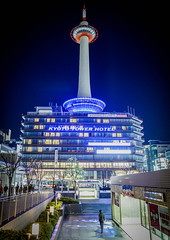Night in Japan Kyoto . . Kyoto Tower   DSC_7678 (Ming - chun ( very busy )) Tags:    travel kyototower japan kyoto night nightscene street light   nikon d800 f18 28mm road    f1828mm 28mmf18 nikkor traveljapan  streetscence streetshot streetsnap nikon28mmf18  building      tower nikon28mm18