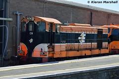 134 at Connolly, 19/7/16 (hurricanemk1c) Tags: dublin irish train gm rail railway trains 121 railways irishrail 134 generalmotors 2016 emd connolly iarnród éireann rpsi iarnródéireann railwaypreservationsocietyofireland 1330inchicoreconnolly rpsidieseltransfer