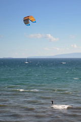 Parasail Surfing II (rschnaible) Tags: ocean sea usa water sport outdoors hawaii us pacific maui tropical sporting tropics parasailing