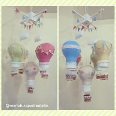 Móbile Balões Coloridos (mfuxiqueira) Tags: móbile balões decoraçãoinfantil decoraçãobebê feltro