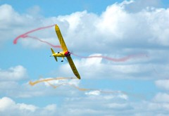 Waterloo Airshow - Glider free falling. (amandaproulxphoto) Tags: colorful colourful entertainment activity airport plane sky aerial airshow ontario waterloo freefall glider