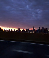 Sunrise from the helix (DC Products) Tags: 2016 newjersey sunrise hudsoncounty weehawken lincolntunnel helix newyork newyorkcity manhattan skyline