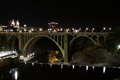 Monroe Bridge at Night (vmf-214) Tags: monroestreetbridge night longexposure outdoor lights reflections spokane spokanewashington spokanewa bridge