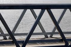 Walkway (pnaudi) Tags: bridge lakeconnewarre recreationalreserve outdoors nopeople geometricshape geelong water jetty rails repetition