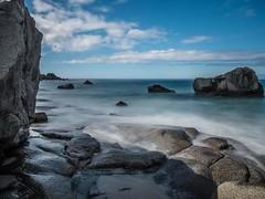 Uttakleiv in Norway! Most beautiful place I've seen so far! #norway #sea #stone #sand #beach #summer #olympus #pen (jacky.stadler) Tags: summer stone sea beach olympus sand pen norway