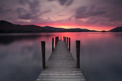 Ashness Jetty  Sunset Derwent Water (mrcheeky2009) Tags: sunset cumbria derwentwater lakedistrict colour water jetty keswick reflections stunning scenery landscape lake