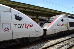 SNCF TGV Lyria POS 4417 (384033) & 4407 (384013) (Will Swain) Tags: paris gare de lyon 18th july 2016 train trains rail railway railways transport travel vehicle vehicles europe france french voyage capital city centre parisien ile ledefrance le socit nationale des chemins fer franais  grande vitesse sncf tgv lyria pos 4417 384033 4407 384013