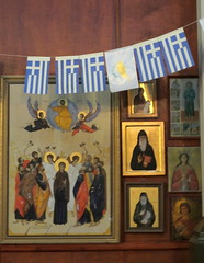 St Spryidon's Geeek Orthodox Church (Moldovia) Tags: stspryidons fujifilmfinepixhs50exr bridgecamera greatyarmouth norfolk church religion religiousbuilding greekorthodox symbols god jesus jesuschrist pictures houseofgod flags greek greece cyprus cypriot indoor