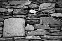 Dry Stone Wall 2/5 (rees_wj) Tags: blackandwhite texture architecture sony a6000 tamron bnw stonework rock monochrome rocks abstract pattern ireland 2870mm