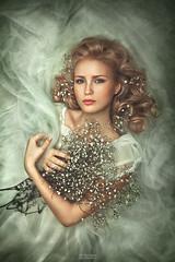 ***** (TatianaAntoshina) Tags: portrait flowers woman young people eyes