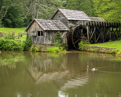Mabry Mill (EHPett) Tags: virginia blueridgeparkway waterwheel pond reflection scenic landscape mill historic sluice