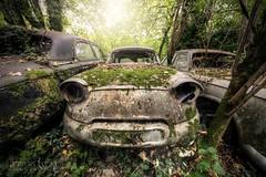 (satanclause) Tags: old car abandoned lost abandonne urbex hdr vehicle auto oputn garage poussette france