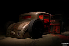 Sinister Rat rod (Cody Waters Photography) Tags: automotive automobile car cars ford modela airride bagged custom handbuilt lighting lightpainting coveredbridge night vehicle canon evil dark mean