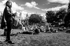 Forcing the Perspective (James Hodgson Photography) Tags: brighton pavilion gardens street photography fuji x100s black white perspective
