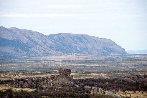 view of Devil's Chair from the main trail at Monumento Natural Cueva del Milodón