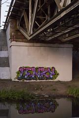 Lenky (masko149) Tags: lenky mask masko maskone 149 graffiti colors mtn94 underbridge minsk 2016 reflection let letters