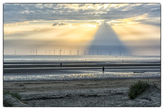 Great Pyramid In The Sky (Dave Moseley Photography) Tags: crosbybeach merseyside anotherplace anotherplacesculpturesbyantonygormley sunset northwest davemoseleyphotography sculpture beach castironfigures liverpool