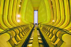 Giant Steps (Thomas Hawk) Tags: america atlanta atlantamarriottmarquis georgia johnportman marquis marriott marriottmarquis portman usa unitedstates unitedstatesofamerica architecture elevator fav10 fav25 fav50 fav100