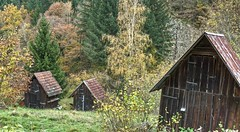 Hay Sheds of Murg Valley 05 (MJWoerner49) Tags: blackforest hut murgtal murg murgvalley northernblackforest gernsbach reichental forbach gausbach barn shed hay haybarn hayshed autumn