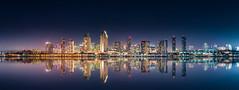 San Diego Night Skyline (davidboyett285) Tags: sandiegoskyline reflection nightskyline nikon d5500 sigma1835mm coronado centennialpark