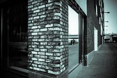 Corner Two (Jori Samonen) Tags: building corner brick window people reflection bridge kalasatama helsinki finland nikon d3200 350 mm f18 nikond3200 350mmf18