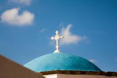 Cross - Cruz (Nathalie Le Bris) Tags: grce grecia cross cruz croix greece santorini bleu azul blue nwn
