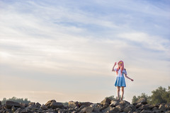 Lacus Clyne (without PS) (bdrc) Tags: asdgraphy lacus clyne gundam seed anime cosplay girl portrait sea beach coast shore bella haro sepang avani sky rocks nikon nikkor 50mm f14d manual prime sony a6000 alpha