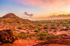 Valley Sunrise (Paulann_Egelhoff) Tags: experimental az phoenix arizona holeintherock desert southwest hdr photography bracketing color colorful sunrise rock landscape