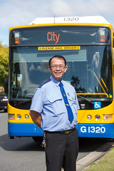 Bus driver in 2016 (Brisbane City Council) Tags: asian bus busdriver busdriverportrait councilworker diversity employee male man multicultural outside people staff