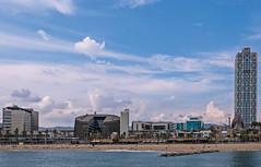 Beach Front View -  Port Olympic - Barcelona - Spain ( Panasonic Lumix DMC-LX100 Compact) (1 of 1) (markdbaynham) Tags: barcelona spain spainish espana espanol port olympic seafront view skyline catalan urban metropolis panasonic lumix lumixer dmc dmclx100 lx100 compact 2475mm f1728