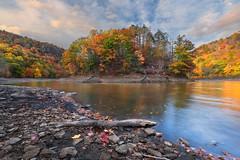 Merimerc Splendor (romiana70) Tags: meriden reservoir merimerc fall autumn colorful leaves water connecticut new england sunset