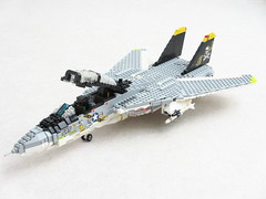 F-14A Tomcat of VF-84 'Jolly Rogers' (1) (Mad physicist) Tags: lego f14 jet usnavy usn tomcat jollyrogers