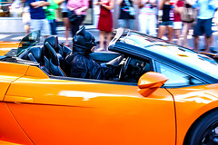 Dark Knight at the Wheel (Gary Burke.) Tags: auto travel vacation orange ontario canada car canon eos rebel niagarafalls drive dc automobile colorful comic driving north canadian niagara hero superhero batman dccomics dslr lamborghini darkknight gallardo sportscar cliftonhill brucewayne lamborghinigallardo garyburke klingon65 t1i canoneosrebelt1i