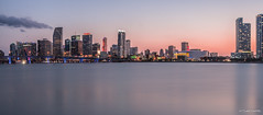 Miami Skyline (EshwarChandra) Tags: city sunset skyline night buildings island bay nikon florida miami watson fl watsonisland portofmiami miamiskyline miamidowntown nikond800