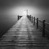 Inaudible (Luke Austin) Tags: newzealand blackandwhite pier wharf glenorchy lakemakatipu