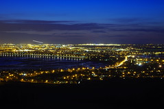 A View From Mush Rock (Joey Scannell) Tags: city blue sea sky urban water night landscape joseph bay coast town high mine exposure view vibrant wide late suburb scannell