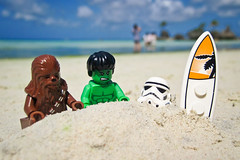 Fun at the Beach (pong0814) Tags: summer beach canon fun toys outdoors photography starwars sand lego surfer philippines lucasfilm powershot actionfigures surfboard superhero stormtrooper april pointandshoot boracay superheroes hulk marvel marvelcomics wookie chewbacca 2012 d10 greenhulk minifigures legominifigures legofaces