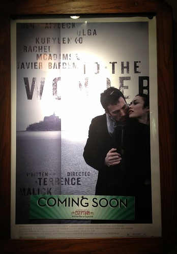 "Movie Poster for Terrence Malick's ""To the Wonder"", Coming Soon to the Egyptian in Seattle"