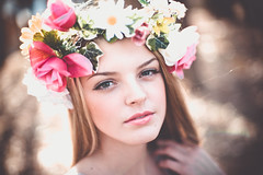 (darien maginn photography) Tags: flowers portrait cute love nature girl beautiful fashion photography 50mm model nikon colorful sweet d600