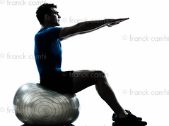 man exercising workout fitness ball posture (Franck Camhi) Tags: shadow people white man male sports silhouette training cutout pose person one 1 sitting exercise profile fulllength young bodybuilding indoors whitebackground studioshot posture bodybuilder workout sideview fitness isolated position oneperson aerobics pilates gymnastic caucasian oneman exercising swissball fitnessball