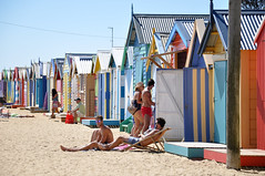 colorful beach houses (marin.tomic) Tags: travel summer house beach colors relax sand nikon colorful oz australia melbourne beachlife victoria explore hut chilling australien brightonbeach downunder d90 explored