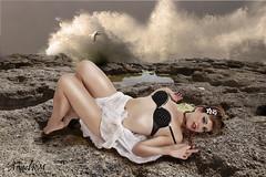 Rocío y el mar (angelrm) Tags: melilla mediterráneo rocío photowalkmelilla