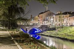 Padua night sesh #1 - Blue (MetzHC) Tags: city longexposure nightphotography bridge urban building water night photoshop nikon tripod padova padua veneto