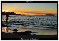 FISHERMAN AT SUNDOWN (Jeff Crowe) Tags: sunset tasmania tasmanian tavels