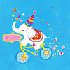 Hello (Adina C) Tags: elephant cute illustration colorful vector cuteanimals childrenillustration contemporaryillustration freelanceillustrator