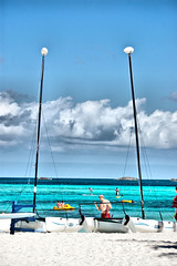 Those Lazy Crazy Days of Summer (Irene2727) Tags: beach sand ps coco catamaran bahamas cay hdr coth5 creativephotocafe