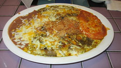Enchilada and Chile Relleno Meal (Twentynine Palms, California) (courthouselover) Tags: california ca meals twentyninepalms sanbernardinocounty
