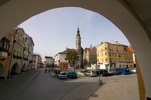 Południowa strona rynku w Jaworze