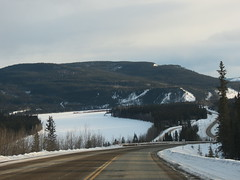 Driving down a hill in Carmacks, Yukon, Canada (jimbob_malone) Tags: yukon carmacks 2013 northklondikehighway